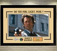 Clint Eastwood signed autograph DIRTY HARRY framed