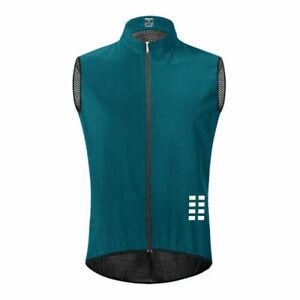 Mens Cycling Vest Reflective Sleeveless Bicycle Gilet MTB Bike Jerseys Back Mesh