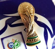 FIFA WORLD CUP TROPHY Official Metal Pin Badge Gold Coloured Football Soccer NEW