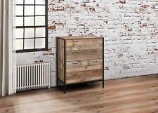 Birlea 4 Drawer Urban Chest Wood Rustic