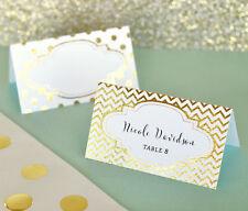 108 Gold / Silver Metallic Printable Foil Escort Anniversary Wedding Place Cards