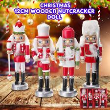 4 Stücke Holz-Nussknacker Puppen Soldat Weihnachtsdeko Deko-Figur Weihnachten