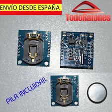 arduino reloj de precision con pila recargable LIR2032 I2C RTC DS1307 AT24C32