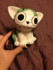 Coin Collecting Cat Piggybank Green
