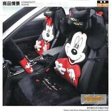 ** 12 Piece Red M Mickey and Minnie Mouse Fluffy Winter Car Seat Covers **