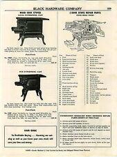 1953 AD Loyal Enterprise Coal Wood Burning Cast Iron Stove Range Parts Repair ++