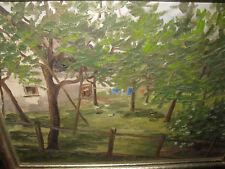 HILDENBRAND Paul, *1904 Hühnerhof mit Apfelbäumen