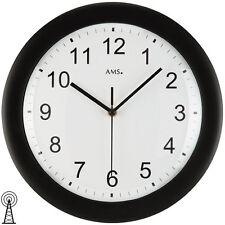 AMS 41 Radio Reloj de pared, Negro oficina NUEVO CON TALLER 398