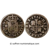 ESPAGNE, PHILIPPE V - 1/2 REAL ARGENT 1731 M JF