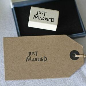 1 x Just Married Wedding Stamp