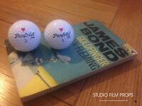 James Bond 007 - Goldfinger Penfold Hearts golf balls x 2