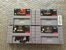 Mortal Kombat 1+2+3, I+II+III + Ultimate MK 3 (Super Nintendo , SNES LOT) Carts