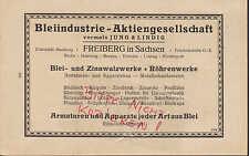 FREIBERG Sachsen, Werbung 1920, Bleiindustrie AG vorm. Jung & Lindig Blei-Zinn