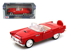 1956 Ford Thunderbird Convertible Red 1:24 Diecast Model Car by Motormax 73215r