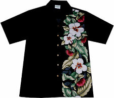 "Hawaiian Shirt ""Classic Black"" / size M - 4XL / 100% cotton / Hawaiian Shirts"