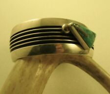 Sterling Ray King -New Price- Sw Contemporary Turquoise Cuff Bracelet