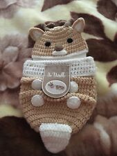 Hand Crocheted Deer 2pc Set New Born Photo Prop So Dorable