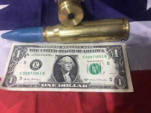 1 20 mm Vulcan  Blue Tip Bullet Snap Cap With Black Rubber Plug
