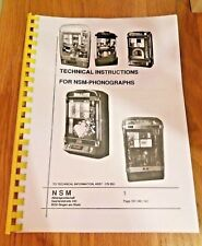 NSM ES4/ES5 cd jukebox manual. Emerald Ice, Old fashion Wizard, Firebird II, etc