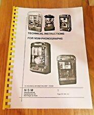 NSM ES4/ES5 cd jukebox manual. Emerald Ice, Old fashion Wizard, Firebird II, etc