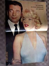 CINEMONDE 1960 MARILYN MONROE  ET MONTAND 40 PHOTOS + POSTER + ECRITS !!