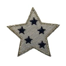 ID 3463B Patriotic Spotted Star Patch American Craft Embroidered IronOn Applique