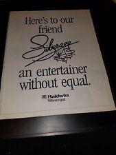 Liberace Baldwin Piano Rare Original Promo Poster Ad Framed!