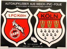 2 Auto Aufkleber auf Bogen + Köln + Stadt + Verein 1.FC Köln + RAR # 201822 +