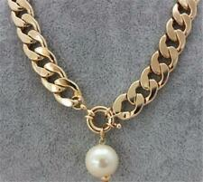 CG2805...HIP HOP LARGE LINK NECKLACE & PEARL - FREE UK P&P