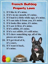 FRENCH BULLDOG Property Laws Magnet Personalized with Your Dog's Name 2