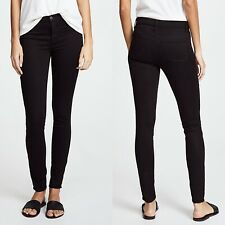 J Brand NWT Super Skinny Luxe Sateen Black Jeans Mid Rise Size 30