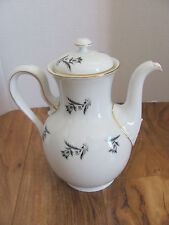 Rosenthal Selb Bavaria-Scattered Gray/Black Tulips- Coffee Pot with Lid