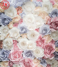 PINK BLUE WHITE ROSES BABY BACKDROP BACKGROUND VINYL PHOTO PROP 5X7FT 150x220CM