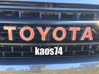 Toyota Tundra TRD PRO Grill Emblem Decal 2015 2016 2017 18 19 2020 2021