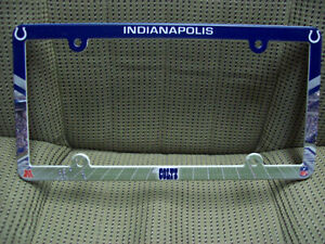 Indianapolis Colts Plastic License Plate Frame