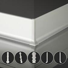 2,5m Sockelleisten aus Aluminium silber eloxiert Höhe 59mm Zubehör Fussleisten