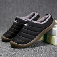 Men's House Slippers Warm Fur Boots Flat Shoes Outdoor Indoor Casual Loafers