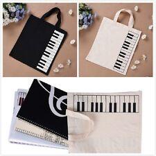 Hot Fashion Black Piano Keys Music Handbag Tote Bag Shopping Bag Handbag Pouch