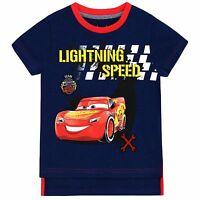 Boys Disney Cars T-Shirt | Kids Cars Tee | Lightning McQueen T Shirt | NEW