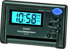 Casio Illuminator Digital Snooze Black 12/24 Hour Travel Clock PQ13-1K(P)