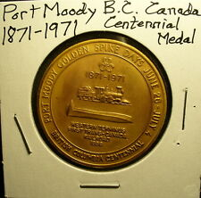 Port Moody BC Canada Centennial Medal