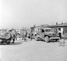 WWII Photo US Army Medics  Penig Concentration Camp  WW2 B&W World War Two/ 1363