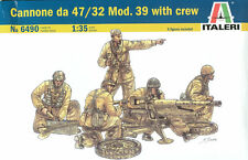 KIT ITALERI 1:35 CANNONE DA 47/32 MOD.39  WITH CREW CON 5 FIGURE INCLUSE 6490
