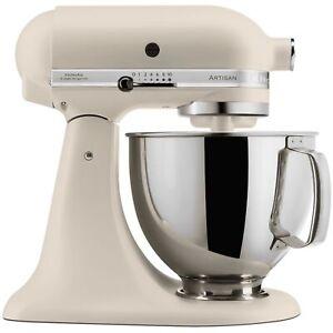 KitchenAid 5KSM125BFL Artisan Stand Mixer 4.8L 300W Fresh Linen 5 Year Guarantee