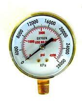 "3 INCH, Oxygen Regulator Gauge, High Pressure, 1/4""-18NPT"