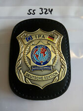 Polizei IPA Marke Deutsche Sektion auf Lederklip 1 Stück (ss324)