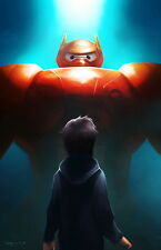 "011 Big Hero 6 - 2014 American Hot Movie Film 14""x22"" Poster"