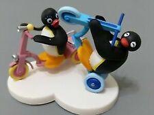 Pygos Pingu action figure series #04 - Pingu and Cycling rare set