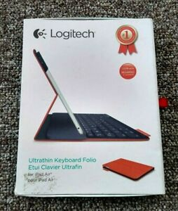 LOGITECH Ultrathin Bluetooth Keyboard in Red Folio for iPad Air P/N 820-006163