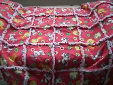"Rag quilt blanket Baby toddler Tiny Toons Bugs Taz Sylvester Tweety  36"" x 36"""